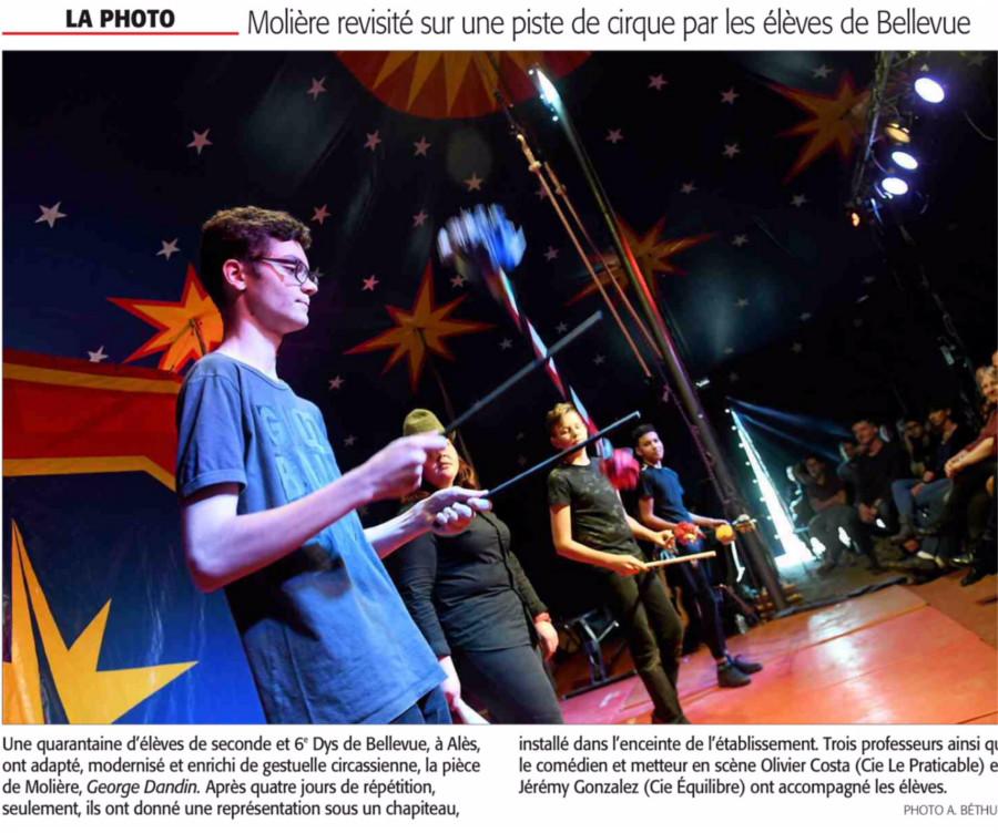 établissement Bellevue actualités cirque - 2018-1