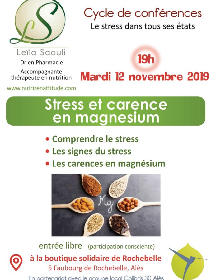 Conférence stress et magnésium